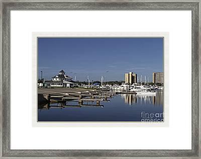 Daytona Boat Launch Framed Print by Deborah Benoit