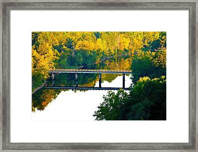 De Gray Bridge Framed Print by Jan Canavan