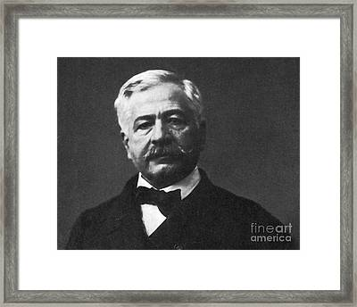 De Lesseps, French Diplomat, Suez Canal Framed Print by Photo Researchers