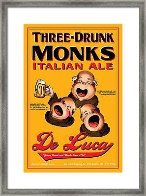 De Luca Three Drunk Monks Framed Print by John OBrien
