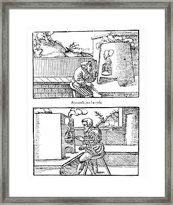 De Re Metallica, Cupellation Furnaces Framed Print by Science Source