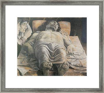 Dead Christ Framed Print by Andrea Mantegna