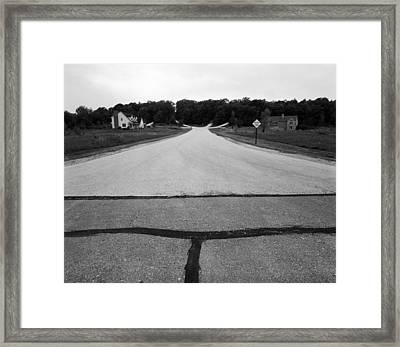 Dead End On Highway C Framed Print by Jan W Faul