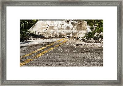 Dead End Street Framed Print