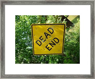 Dead End Target Framed Print