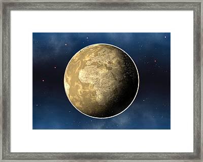 Dead Future Earth Framed Print