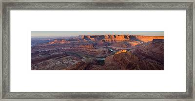 Dead Horse Point Panorama Framed Print by Andrew Soundarajan