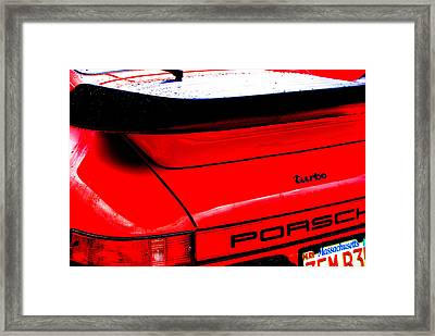 Framed Print featuring the photograph Dead Red Turbo by John Schneider