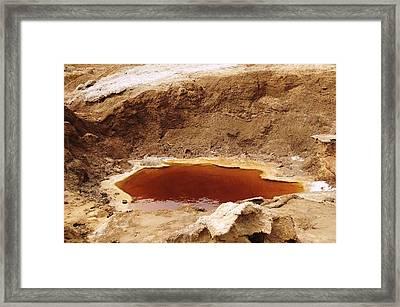 Dead Sea Sinkhole Framed Print by Photostock-israel