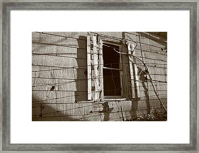 Dead Window Framed Print