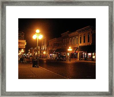 Deadwood Night Framed Print by Liz Evensen