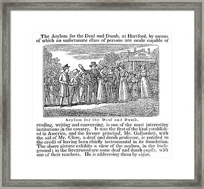 Deaf And Dumb School, 1842 Framed Print by Granger