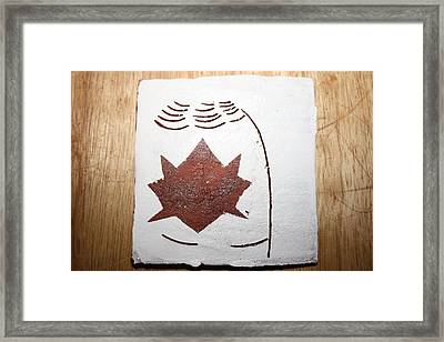 Deana - Tile Framed Print by Gloria Ssali
