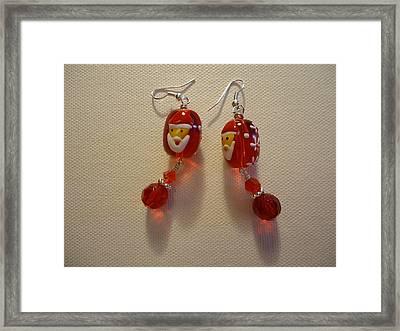 Dear Santa Earrings Framed Print by Jenna Green