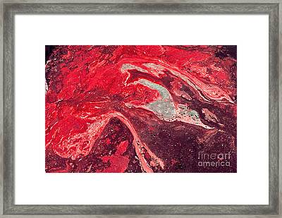 Death By Oil Slick Framed Print