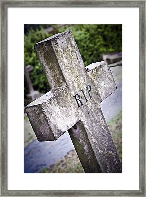 Death Concept Framed Print by Tom Gowanlock