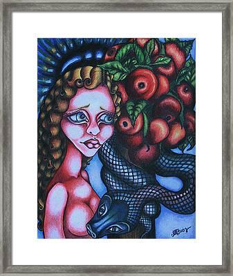Death Framed Print by Maryska Torresowa