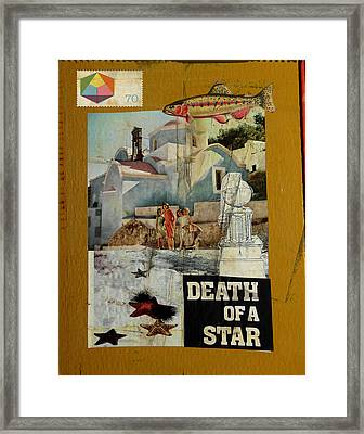 Death Of A Star Framed Print by Adam Kissel