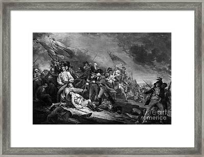 Death Of General Warren, 1775 Framed Print by Omikron