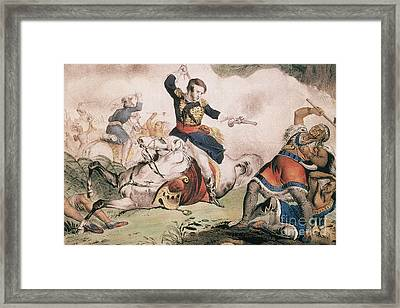 Death Of Tecumseh At Battle Of Thames Framed Print by Photo Researchers