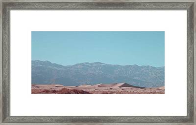 Death Valley Dunes Framed Print by Naxart Studio