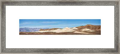 Framed Print featuring the photograph Death Valley Mountain Panorama by Mike Irwin