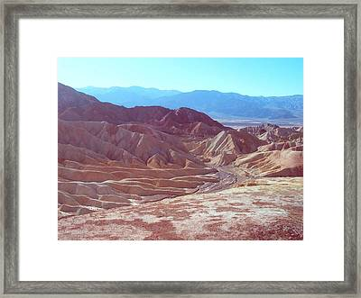 Death Valley Mountains 2 Framed Print by Naxart Studio