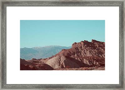 Death Valley Mountains Framed Print by Naxart Studio