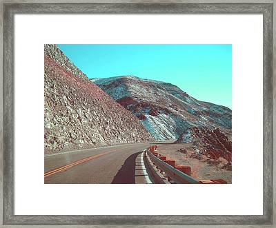 Death Valley Road 2 Framed Print