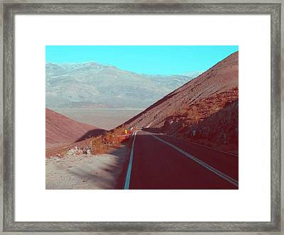 Death Valley Road 3 Framed Print by Naxart Studio