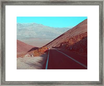 Death Valley Road 3 Framed Print