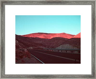 Death Valley Road 4 Framed Print by Naxart Studio