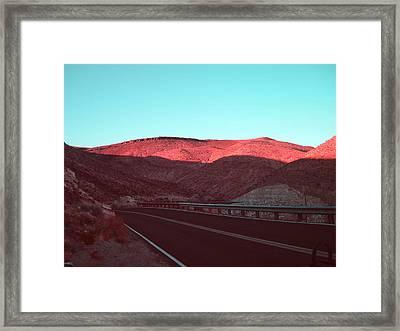 Death Valley Road 4 Framed Print