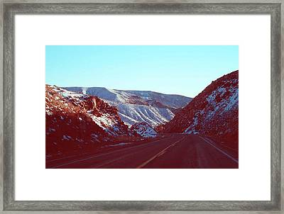 Death Valley Road Framed Print