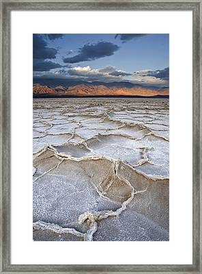 Framed Print featuring the photograph Death Valley Sunrise by Mike Irwin
