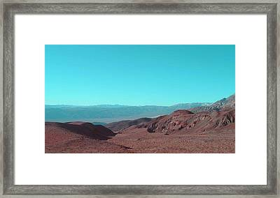 Death Valley View Framed Print