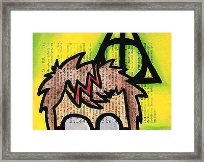 Deathly Hallows Harry Framed Print