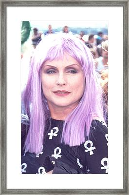 Framed Print featuring the photograph Debbie Harry by Tom Wurl