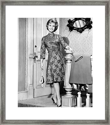 Debbie Reynolds In A Travilla-designed Framed Print by Everett