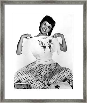 Debbie Reynolds, Portrait, Ca. 1950s Framed Print by Everett