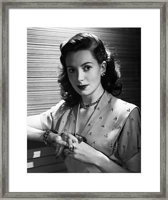 Deborah Kerr, 1950 Framed Print by Everett