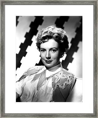 Deborah Kerr, Portrait, Ca. 1950s Framed Print by Everett