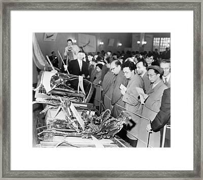 Debris From American U-2 Spy Plane Framed Print
