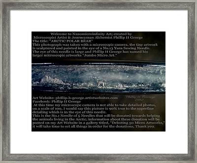 Debuting Arctic Polar Bear Sewing Needle Framed Print by Phillip H George