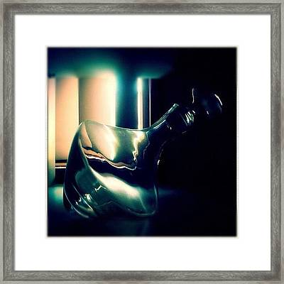 Decanter #wine #bottle #light #decanter Framed Print