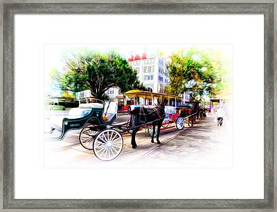 Decatur Street At Jackson Square Framed Print by Bill Cannon