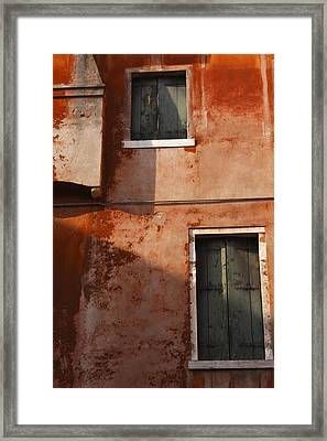 Decayed Facade Of A Building Venice Framed Print by Trish Punch