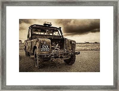 Decaying Landrover At Dungeness Framed Print by David Turner