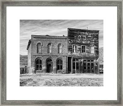 Dechambeau Hotel And Ioof Hall Bodie Ca Framed Print by Troy Montemayor
