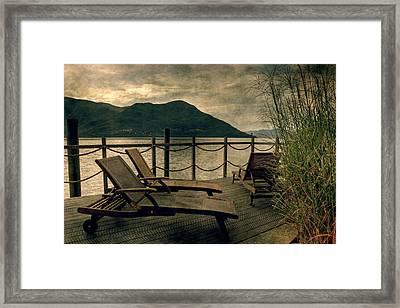 Deck Chairs Framed Print by Joana Kruse